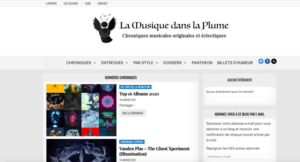 Capture site lamusiquedanslaplume.fr