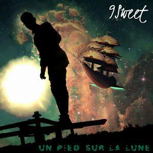9 sweet un pied sur la lune pochette cover illustration